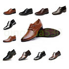 New Men's Wedding Dress Pointed Oxfords Leather Shoes Casual Formal Size 6-12