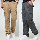 Men's Tactical Army Fleece Trousers Casual Hunting Hiking Cargo Work Duty Pants