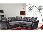 BRAND NEW SHANNON CORNER SOFA in MINK BROWN, BLACK GREY