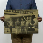Retro Kraft Paper Pop Music Rock Band Stars Poster Placard Bar Pub Wall Decor