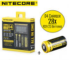 Netgear Arlo Camera Rechargeable CR123A Battery & D4 Charger Kit by Nitecore