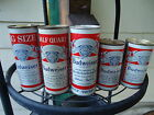 Budweiser Beer Can Lot - 4 Flats and 1 Tab - Includes 16 Ouncers