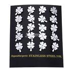 Fashion Stainless Steel Ladies Four Leaf Clover Gold-Original Color Stud Earring