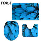 Bathroom Toilet Seat Covers 3pcs Carpets Feather Design Mats Customized Rugs