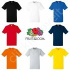 Fruit of the Loom Mens Womens FOTL Heavy 100% Cotton Blank Plain Tee T-Shirt