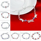 Hot Sale 925 Sterling Silver Charm Bracelet with Lock Snake Chain Jewelry Gift
