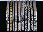 10pcs Lots of Mixed Noble Men's Silver Golden Stainless Steel Unisex Bracelets