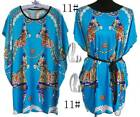 AU SELLER BOHO Women's Tunic Kaftan Loose Long Top/Beach Cover Up S-XL T020-11