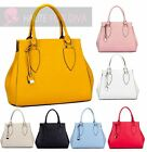 WOMEN'S NEW PU LEATHER DOCTORS BAG OPENING STYLE PEAR SHAPE TOTE SHOPPER BAG