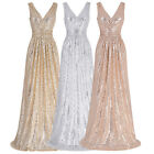 Formal Long Evening Dress Cocktail Sequins Bridesmaid Party Prom Dresses Pageant