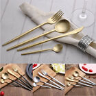 Delicate Pointed handle Flatware Set 18/10 Stainless Knife Fork Spoon Teaspoon