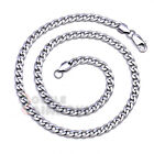 C8 18-36 inches Men Women Stainless Steel Silver 6mm Cuban Curb Necklace Chain