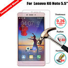9H Premium Tempered Glass Film Screen Protector Guard For Lenovo K6 Note 5.5""
