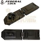 FEDERAL  FD1075 HIGH SECURITY GARAGE SHED VAN GATE HASP AND STAPLE