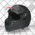 Adult Dual Visor Matte Black Full Face Motorcycle Helmet Street Bike M L XL XXL