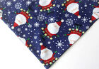 Christmas Dog Bandana, Santa Claus over the collar, dog bandana, santa blue