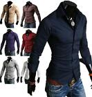 Men's Fashion Hot Slim Fit Luxury Long Sleeve Casual Dress Tee Shirts Summer