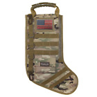 Tactical Christmas Stocking With Molle Gear And Usa Flag