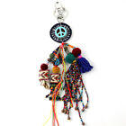New Arrived Vintage Ethnic Bohemian Handcraft Glass beads Chain Tassel Key Chain