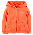 NWT Carter's French Terry Orange Hoodie Jacket Toddler 2T, 3T, 4T