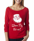 Where My Ho's At?. Off Shoulder Raglan Tee. Ugly Christmas Sweaters. Xmas Gifts.