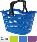 30 Litre Plastic Shopping Basket with Folding handles Resuable Shopping Bag