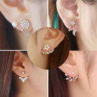 New Fashion Women Lady Elegant 1Pair Crystal Rhinestone Ear Stud Earrings image