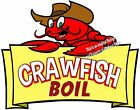 Crawfish Boil DECAL (CHOOSE YOUR SIZE) Seafood Food Truck Restaurant Concession