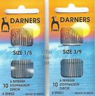 VAT Free Pony Packet of Gold Eye Darners Darning Needles Sizes 1/5 or 3/9