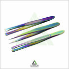 Professional Eyebrow Slanted Tweezers Set Hair Beauty Plucking Tweezer Titanium