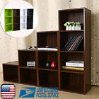Wooden Storage Unit Cube 3/4 Tier Strong Bookcase Shelving Home Office Display