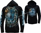 Wolf Dream Catcher Wolves Native American Indian Zip Zipped Hoodie Hoody Jacket