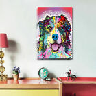 Colour Dog Abstract Canvas Prints Framed Wall Art Home Kids Decor Painting Gift