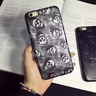 Ultrathin Faux Leather Cool Skulls Soft Phone Cover Case For iPhone 6 6 Plus