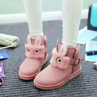 B Lolita Girls Buckle Ankle Boots Pull On Fur Lining Snowboots Faux Suede Shoes