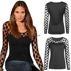 Women Ladies Long Sleeve Shirt Mesh Lace Blouse Tops T Shirt New Casual CaF8