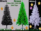 Green, White, Black Traditional Christmas Tree Artificial Tree 350tip metal base