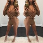 Women White Fashion Solid Two-piece Sexy Bandage Bodycon Jumpsuit Short Pants