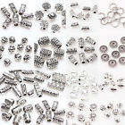 50/100Pc Tibeten Silver Loose Spacer Beads Charm Jewelry Findings Multi Styles