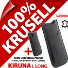 New Krusell Kiruna L Long GENUINE LEATHER Mobile Pouch Case Cover Sleeve Slim