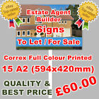 Printed Correx Signs Full Colour, SITE BOARDS - Free Design - FAST Delivery