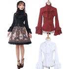 Women Medieval Renaissance Gothic Lolita Palace Flared Sleeves Elegant Shirt Top