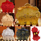 Внешний вид - 10/50/100 Wedding Party Favor Boxes Lace Laser Cut Sweet Candy Gift With Ribbon