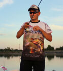 ORGINAL OFFICIAL TEAM CRAZY FISH T-SHIRT BREATHABLE FABRIC PERCH LURE FISHING