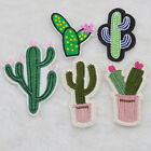 DIY Cactus Embroidered Cloth Sew Iron On Patches Clothes Bag Hat Applique Badge