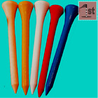 70mm WOODEN GOLF TEES 50,100,200,300,400,500 WHITE,RED,NATURAL WOOD,BLUE,YELLOW