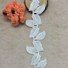 1/3/5 Yards Embroidered Small Leaves Lace Edge Trim Dress Applique Sewing Craft