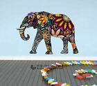 Rainbow Flower Elephant Wall Stickers Kids Nursery Decor Animal Decal Art Mural