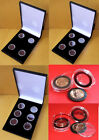 Display Case for 4, 5 or 6 Full Sovereigns / £1 coins in Ring Type Coin Capsules