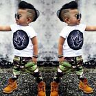 Toddler Kids Baby Boys Girls Outfits T-shirt Tops+Long Pants 2PCS Clothes Sets